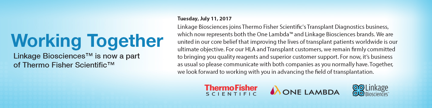 Linkage Biosciences is now a part of Thermo Fisher Scientific