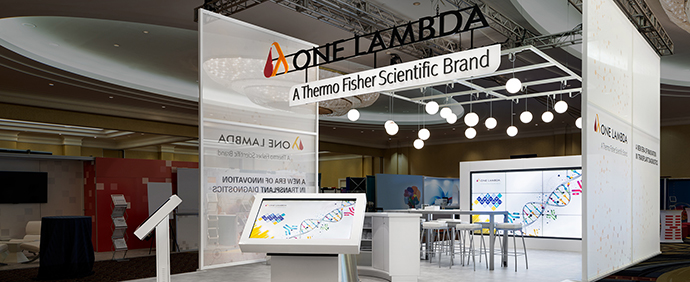 One Lambda Booth at ASHI