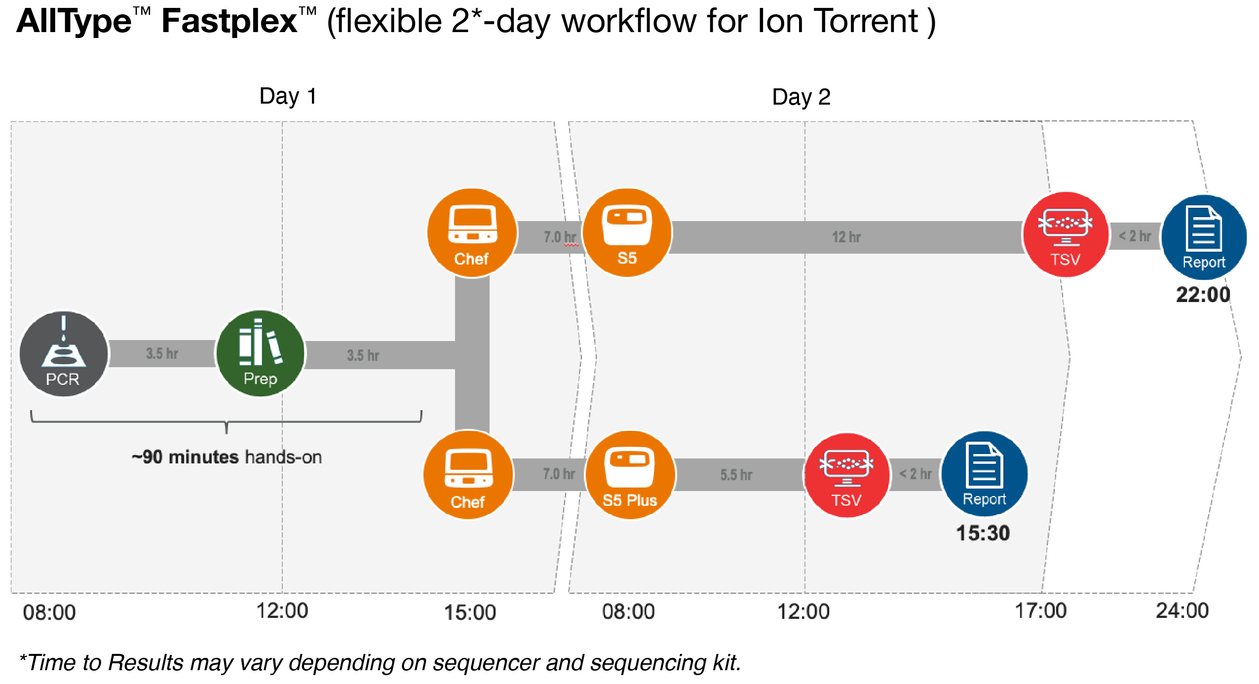 AllType FASTplex flexible 2-day workflow for Ion Torrent